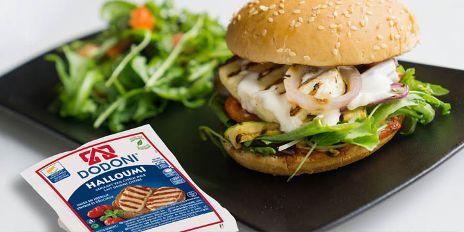 Vegetarische Halloumi burger