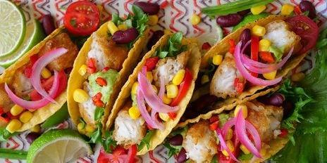 Oven lekkerbekje vis taco's