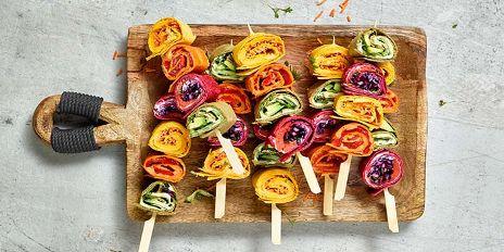 Regenboog tortillaspiesjes