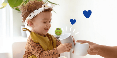 Warme babyccino