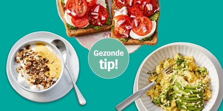 Beter eten menu met gezonde gerechten vol groente en fruit bij Albert Heijn