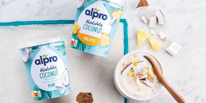 Bestel Alpro absolutely coconut bij Albert Heijn voor je plantaardig ontbijt.