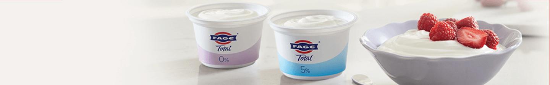 Fage Total yoghurt. Van nature dik en romig.