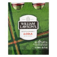 Een afbeelding van William Lawson's Whiskey & cola
