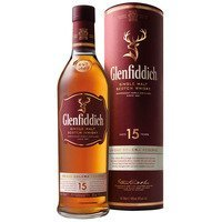 Een afbeelding van Glenfiddich Single malt Scotch whisky 15 years