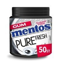 Een afbeelding van Mentos Gum Bottle pure fresh black mint