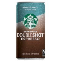 Een afbeelding van Starbucks Double shot + milk no sugar added