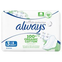 Een afbeelding van Always Bio cotton night maandverband