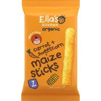 Een afbeelding van Ella's Kitchen 7+ melty sticks sweetcorn + carrot
