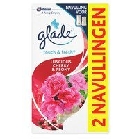 Een afbeelding van Glade Touch&fresh navul luscious cherry &peony