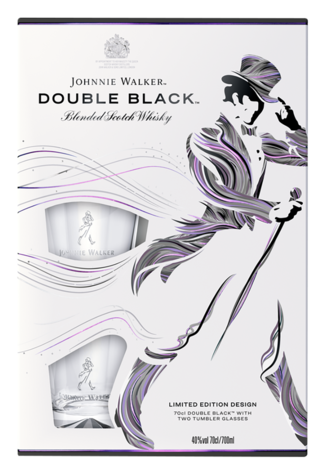 Johnnie Walker Double Black met 2 Tumblers