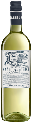 Barrels And Drums Chardonnay Alcoholvrij 75CL