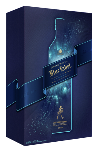 Johnnie Walker Blue Label met 2 Glazen