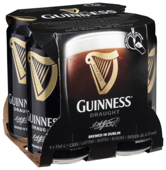 Guinness Pression Blik 4X33CL