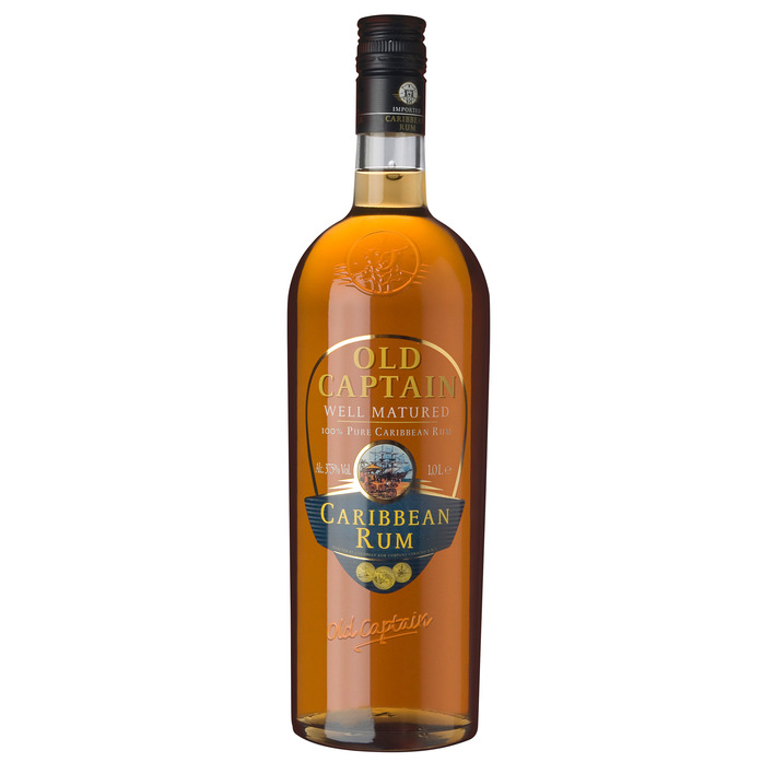 Een afbeelding van Old Captain Well matured Caribbean rum