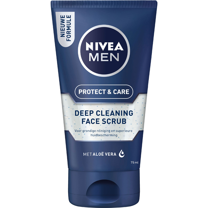 Een afbeelding van Nivea For men face scrub deep cleaning