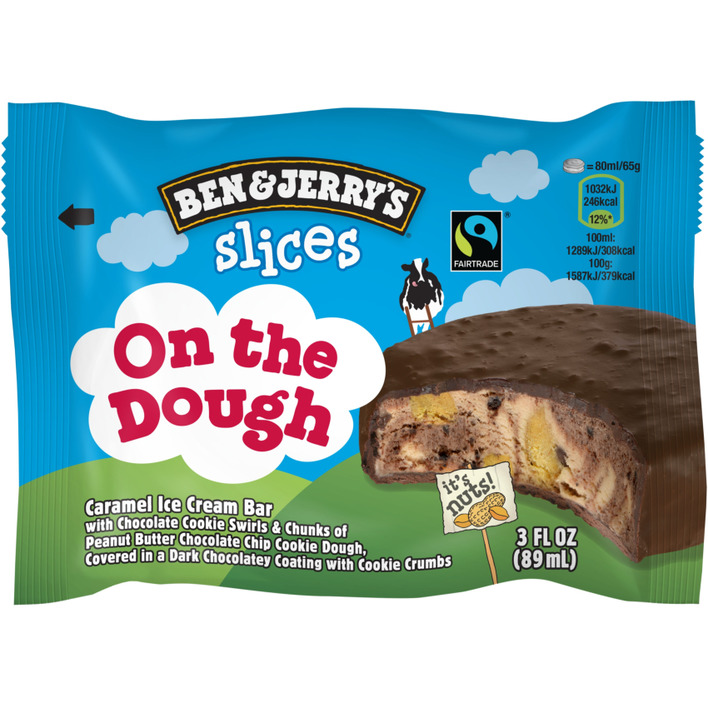 Een afbeelding van Ben & Jerry's Ijs slice on the dough