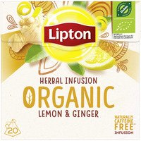 Lipton Infusie organic lemon & ginger thee