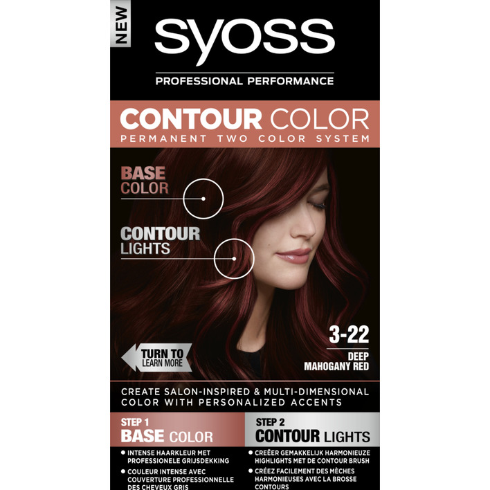 Een afbeelding van Syoss Contour color 3-22 50ml deep mahony red