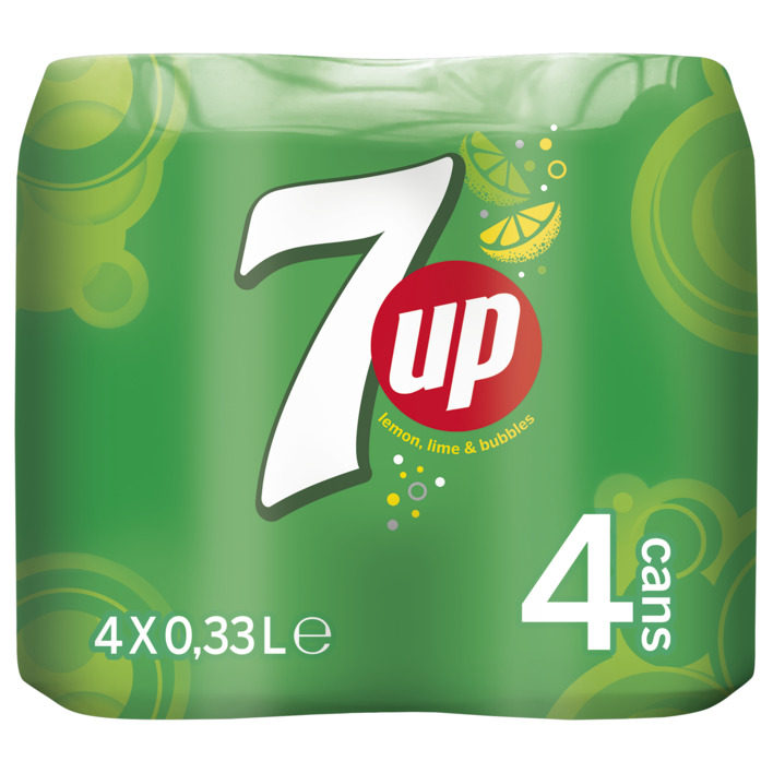 Een afbeelding van 7up Regular lemon lime blik 4-pack