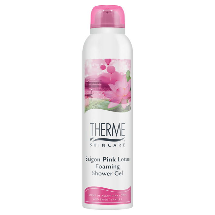 Een afbeelding van Therme Foaming shower mousse saigon pink lotus