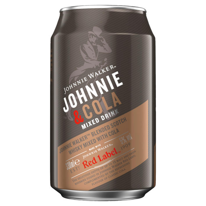 Een afbeelding van Johnnie Walker Red label & cola