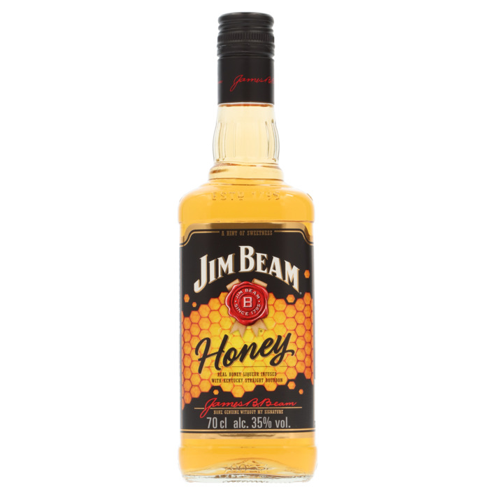 Een afbeelding van Jim Beam Kentucky straight bourbon whisky honey