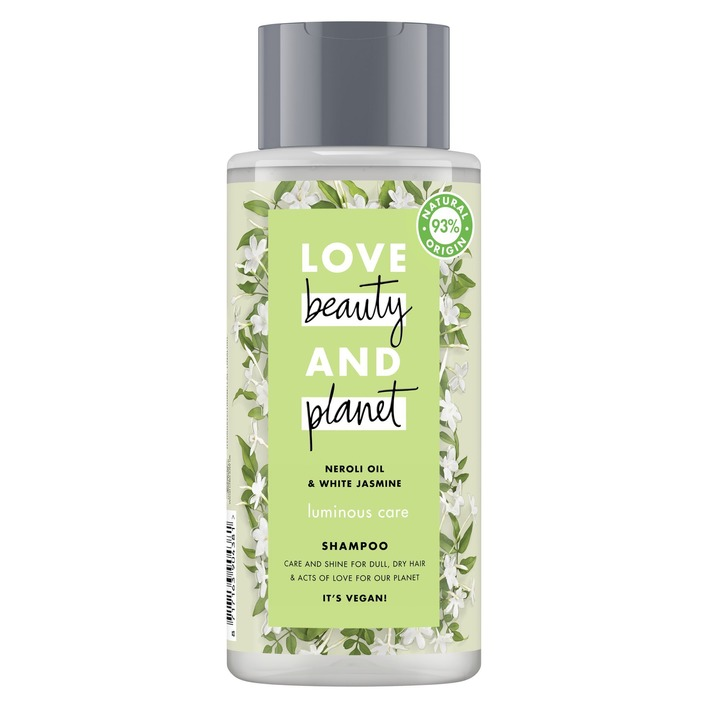 Een afbeelding van Love Beauty Planet Neroli oil & white jasmine shampoo