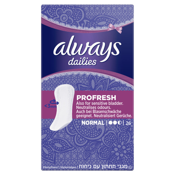 Een afbeelding van Always Dailies profresh normal inlegkruisjes