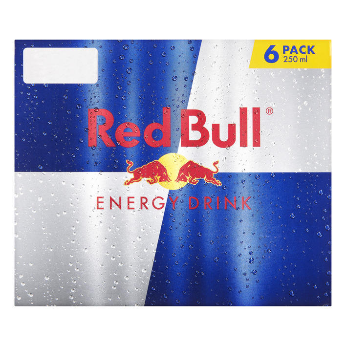 Een afbeelding van Red Bull Energy drink regular 6 pack