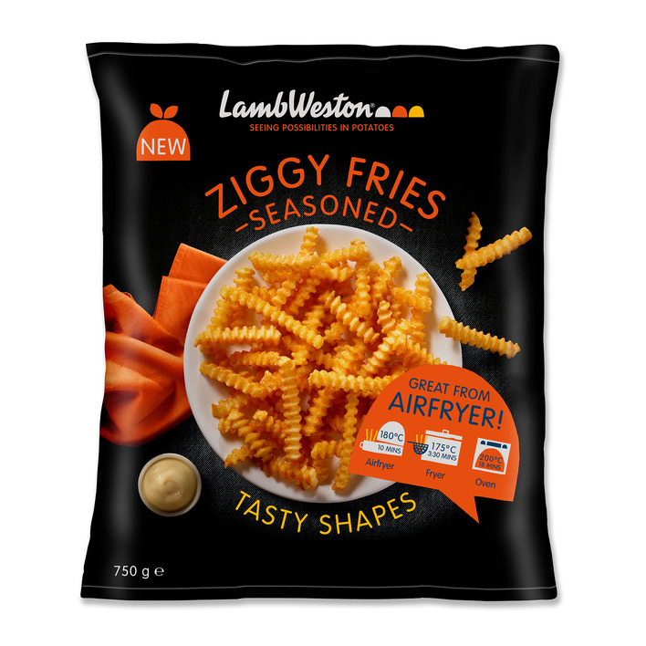 Een afbeelding van LambWeston Ziggy fries seasoned