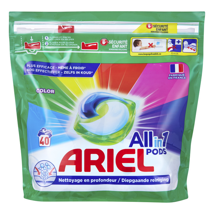 Een afbeelding van Ariel All-in-1 pods color wascapsules