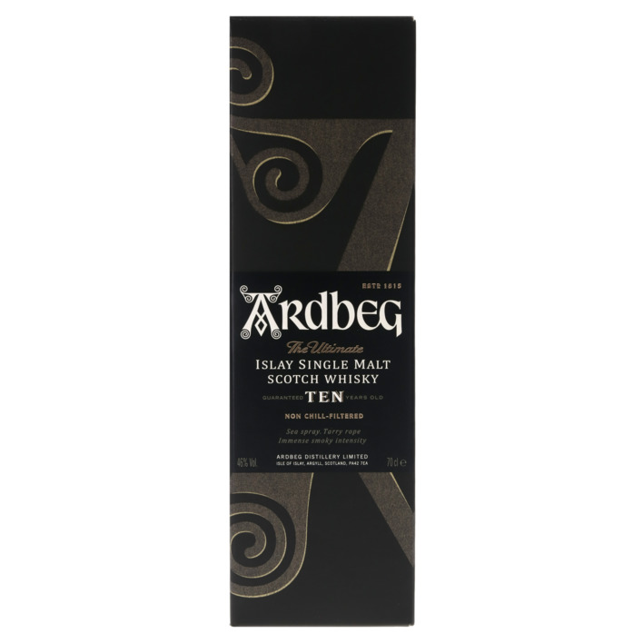 Een afbeelding van Ardbeg Islay single malt Scotch whisky 10 years