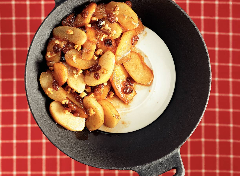 Winterfruit uit de wok