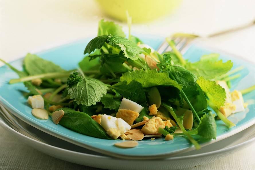 Lentesalade met ei en peterselie