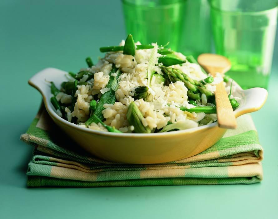 Risotto met groene groenten