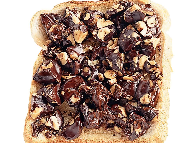 Chocolade-tosti met hazelnoot