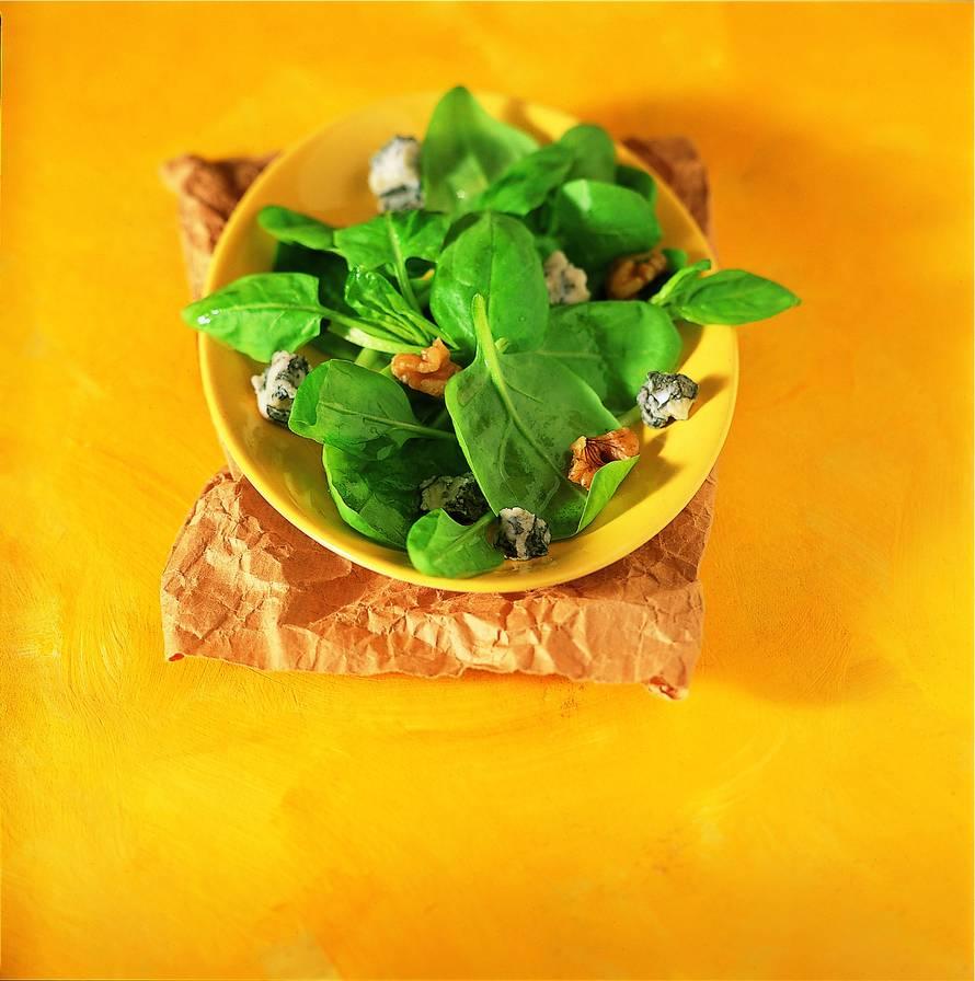 Spinaziesalade met gorgonzola