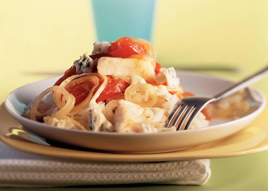 Visschotel met kabeljauw en gorgonzola
