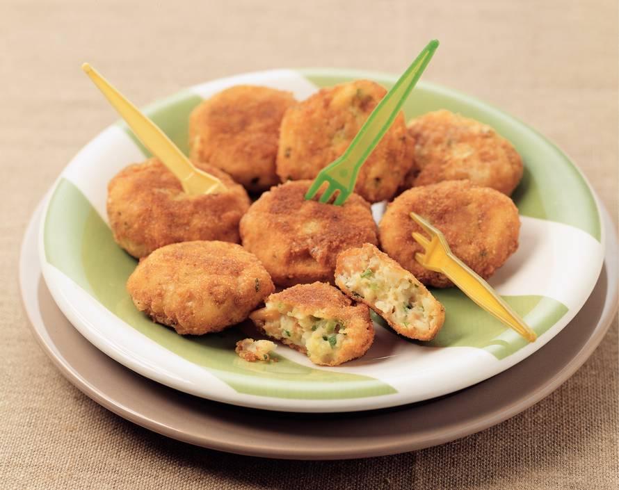 Aardappel-notenkoekjes met bieslook
