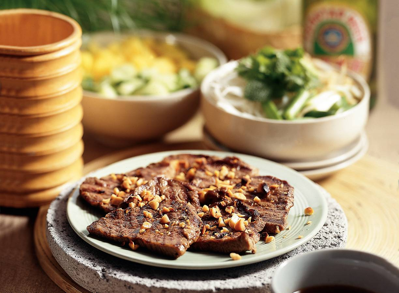 Gegrild gemarineerd rundvlees