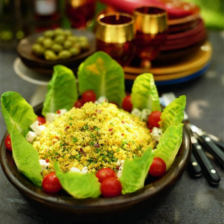 Tabbouleh met tomaatjes en kaas