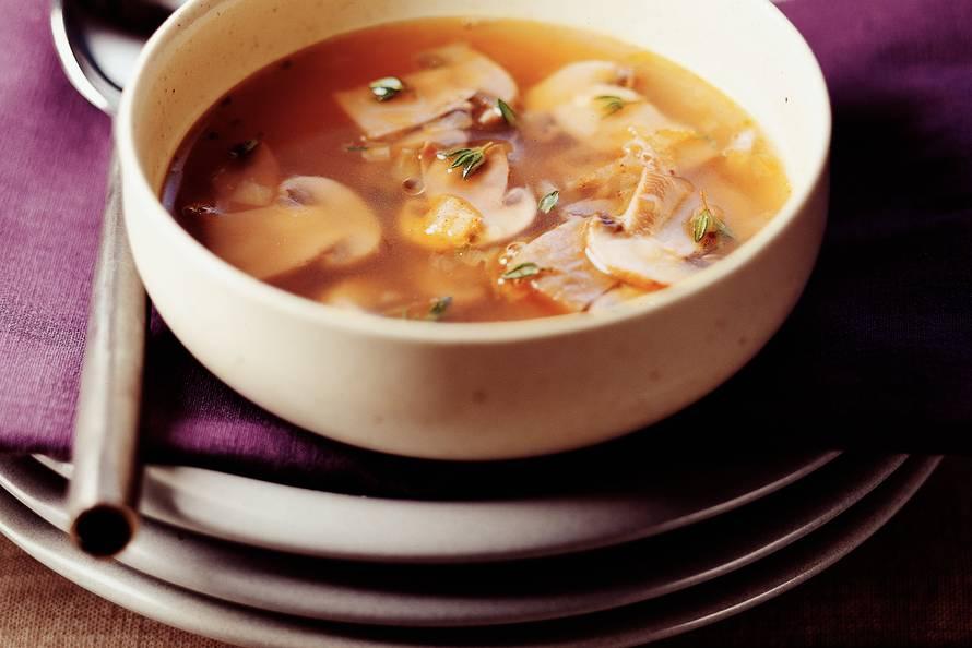 recept heldere champignonsoep
