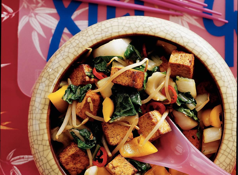Thaise tahoe met groenten