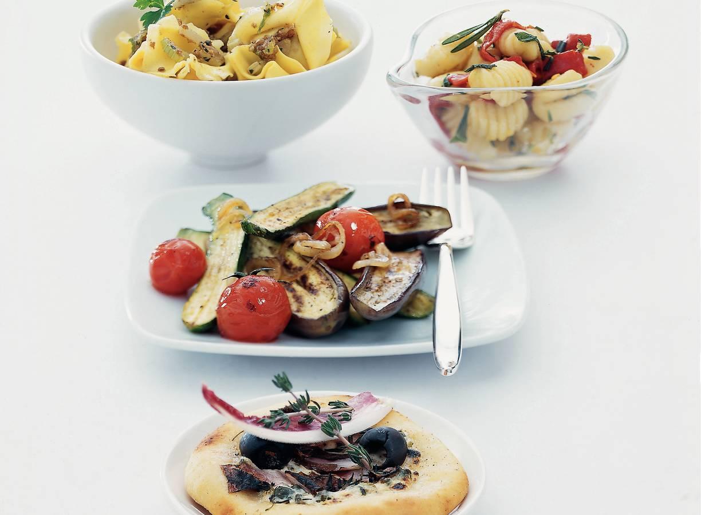 Gnocchi met Italiaanse kruiden en geroosterde paprika