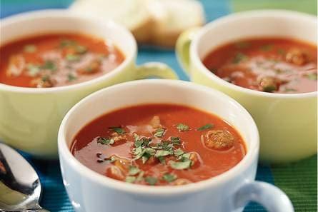 soep met gehaktballetjes