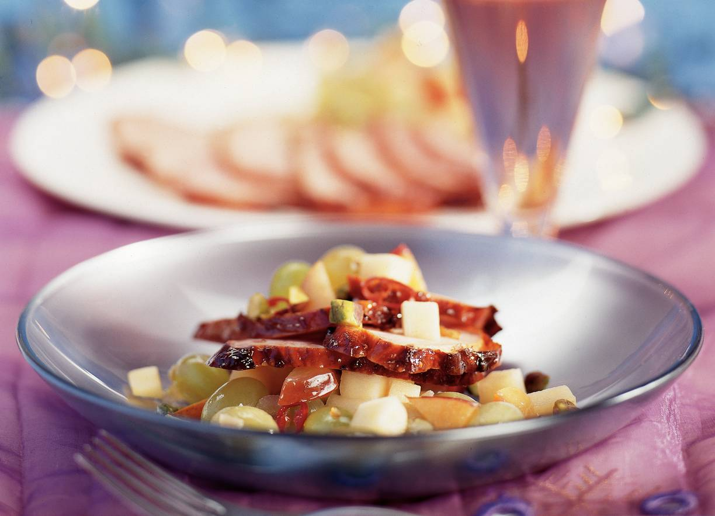 Amerikaanse ham met pittige vruchtencompote