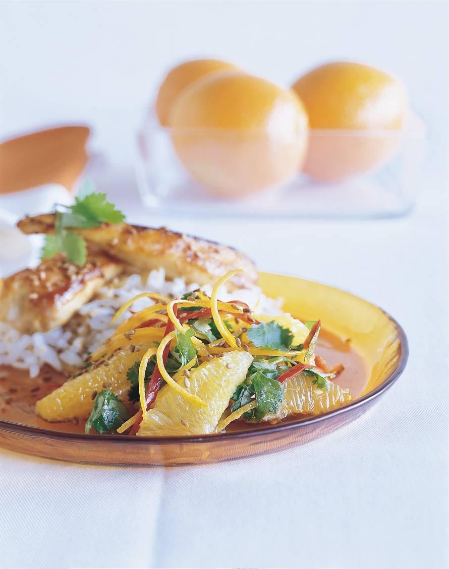 Oosterse kipfilet met sinaasappelchutney