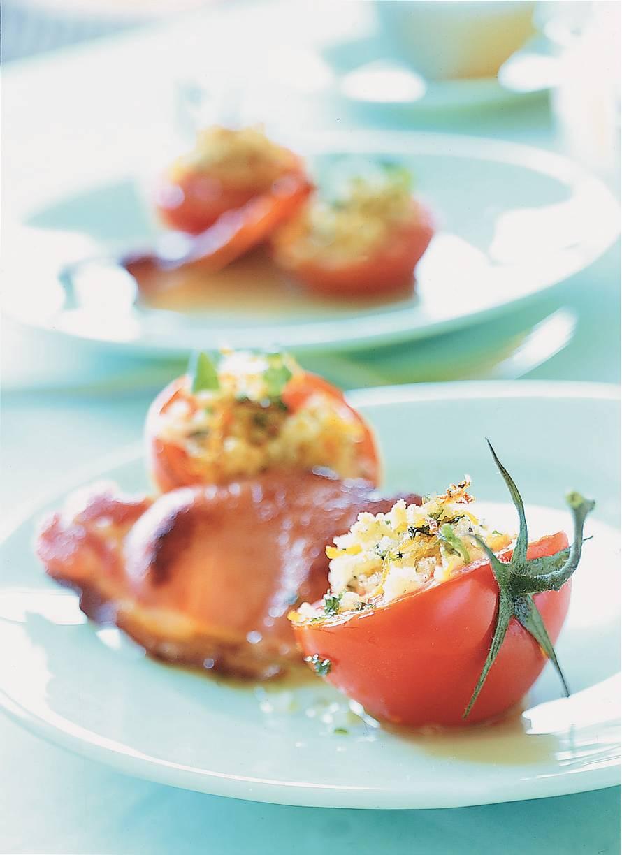 Bakbacon met tomaat