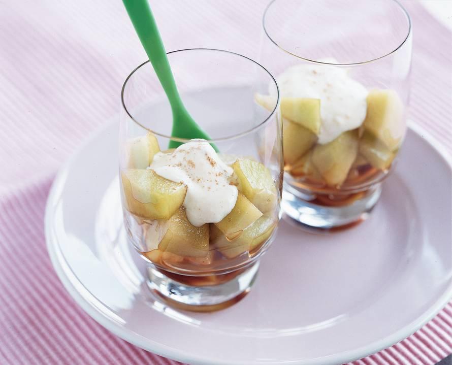 Meloen met sherry en gembercrème